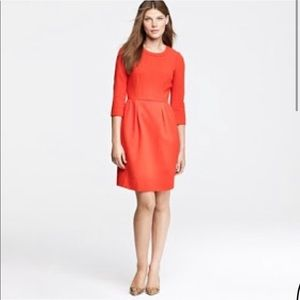 J. CREW Red Wool Teddy Career Dress